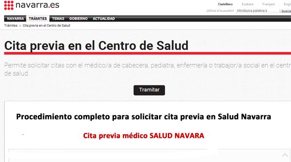 cita previa salud Navarra