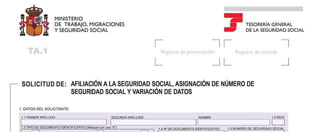 afiliación e inscripción